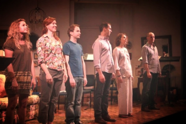 Taking a bow at Primary Stages with the cast, including Tony Winner Randy Graff