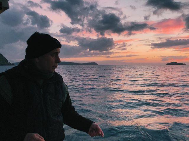 All hail the captain ⚓️ #cap #captain #ayecaptain #sea #seaman #ocean #sailor #fishing #aegeansea #mediterranean #dad #father #baba
