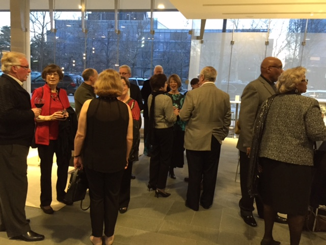 AFO members and guests enjoy a pre-concert gathering at the Holland Performing Arts Center