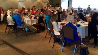 AFO Members & guests enjoying presentation and lunch at Field Club Country Club