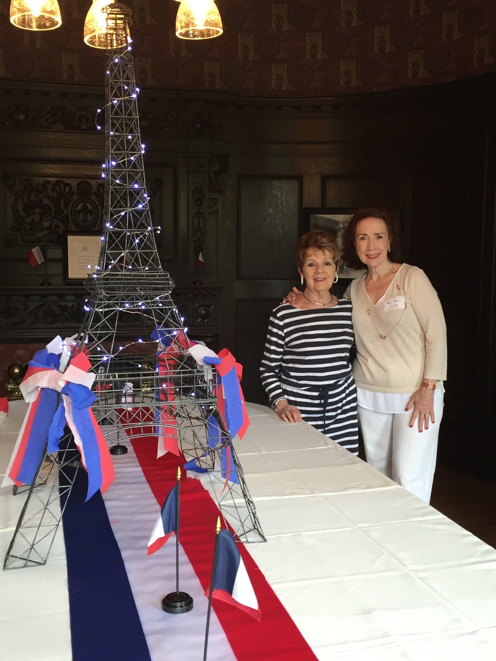 AFO Member Mary Mitchell & Anne Marie Kenny, AFO President showing off our beautiful table decor.  Thanks, Mary!
