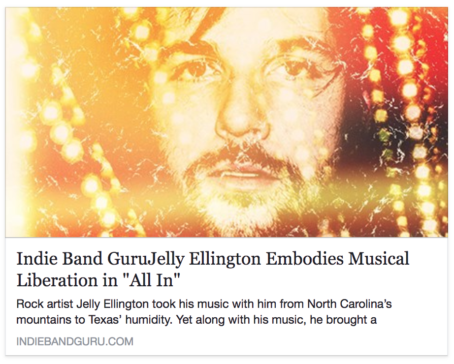 All In Album Review by Indie Band Guru — Jelly Ellington