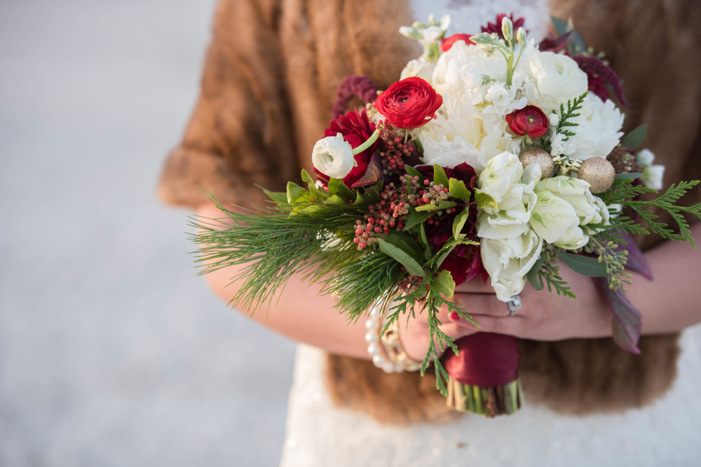 Christmas Wedding Bouquet | Blushing Rose Event Floral