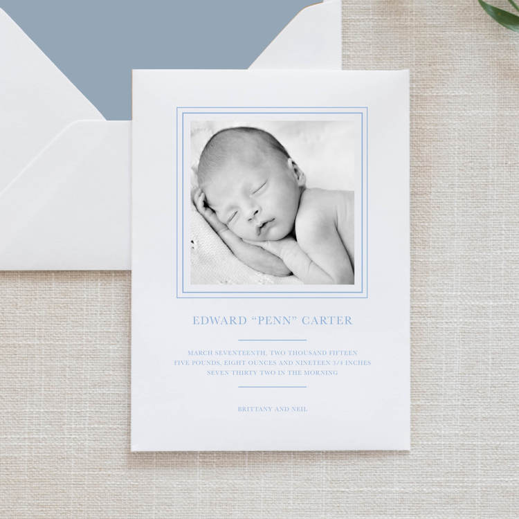 Babies Oconee Printing – Classic Baby Announcements