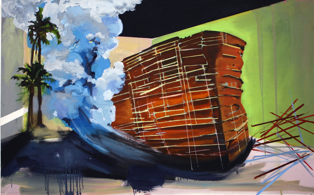 Battleship, oil on canvas, 30 x 52 inches, 2012