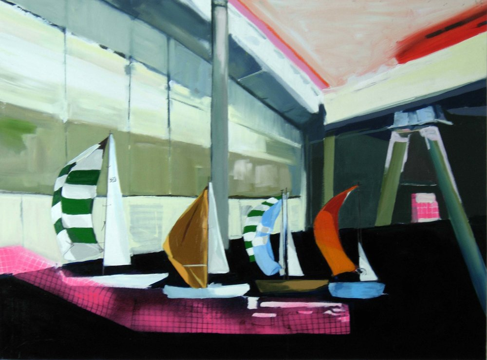 Sailing Picture, oil on panel, 36 x 48 inches, 2010
