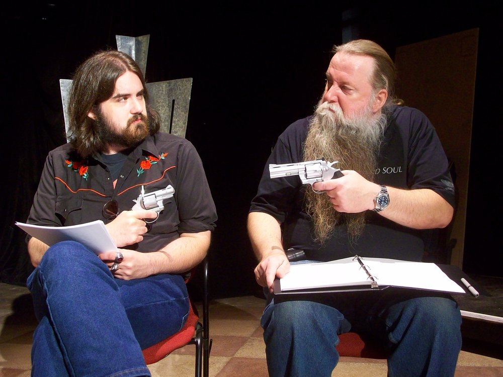 The curse is gone. | Ben R. Williams and Kenley Smith in the Studio Roanoke staged reading