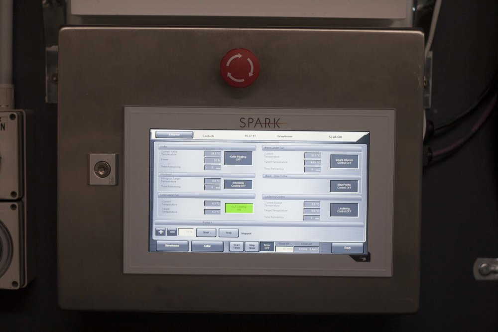 Digital controls: not just a pretty face, they're essential for brewing consistent, repeatable beers.