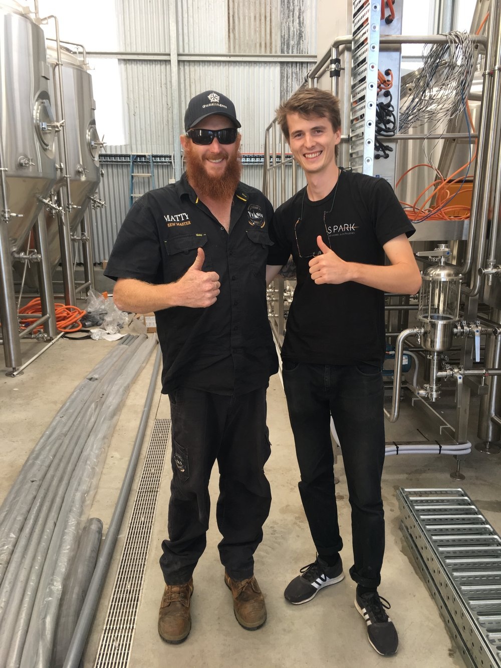 Cal (R) at Wilson Brewing (Albany) with Matt Wilson