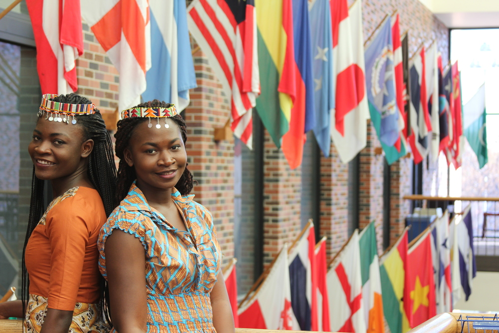 Sisters Dorinda and Rebecca Ackah represent the growing diversity of both the students and musical influence on campus.