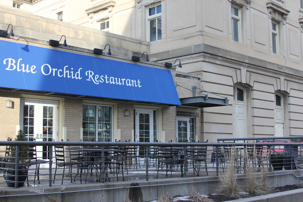 The Blue Orchid is the perfect restaurant for a date or small party.