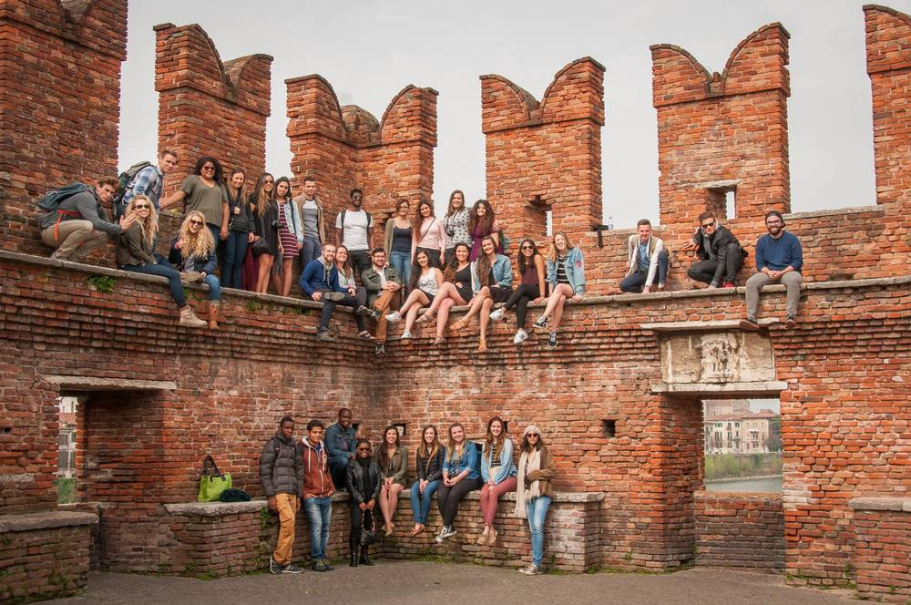 Katie Morrison in a group photo op in Verona, Italy // Katie Morrison