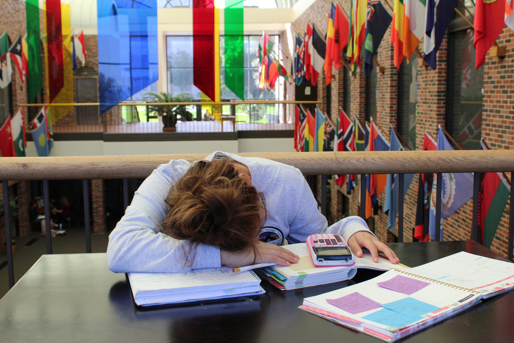 Don't let midterms get you down—study hard! PC: Kimberly Ortiz