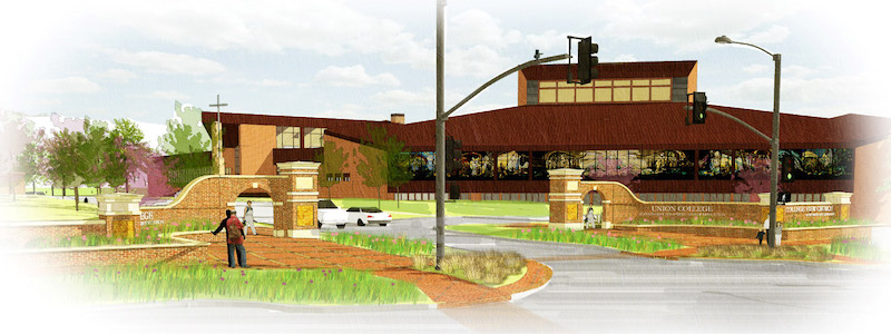 Projected sketches of what the entrance will look like. | PC: Provided by Dr. Sauder