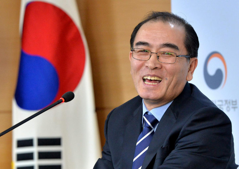 Thae Yong-ho reacting at a conference. | PC: newsweek.com