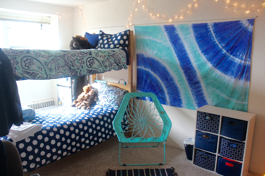 Filling up blank wall space helps liven things up. Pictured: Katie Buxton's room | PC: Danica Eylenstein