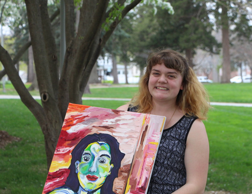 Hannah Ashburn is one of the few students to graduate with a studio arts major.| PC: Cameron Cizek
