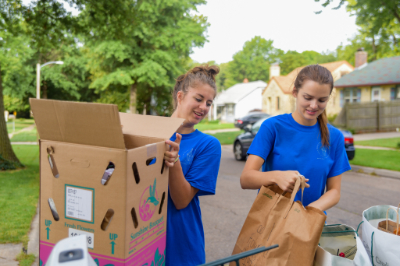 Students give back through service with Project Impact. | PC: Integrated Marketing Communications
