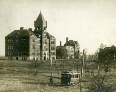Pictured is the College Building in 1890. Though campus looks different today, the vision remains the same. | PC: Integrated Marketing Communications