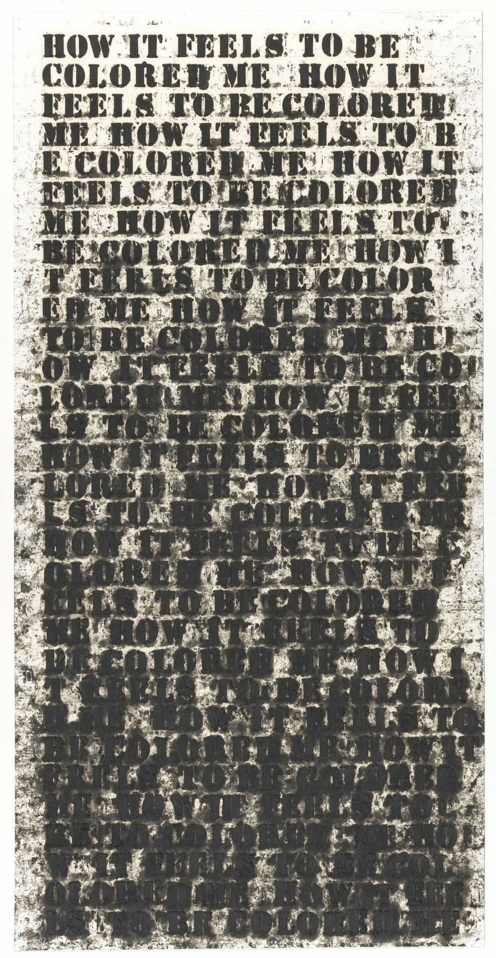 Glenn Ligon Untitled (How It Feels to be Colored Me) (1991) | PC: moma.org