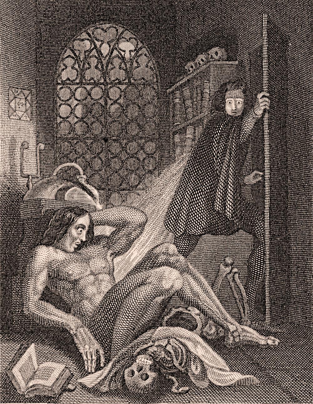 Original Illustration of Frankenstein's Monster, Theodore Von Holst, 1831 | PC: Wikimedia