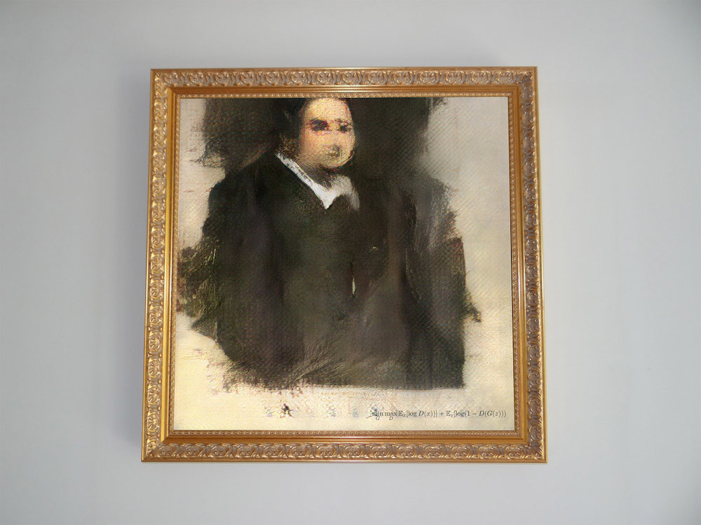 """Portrait of Edmond de Belamy"" 