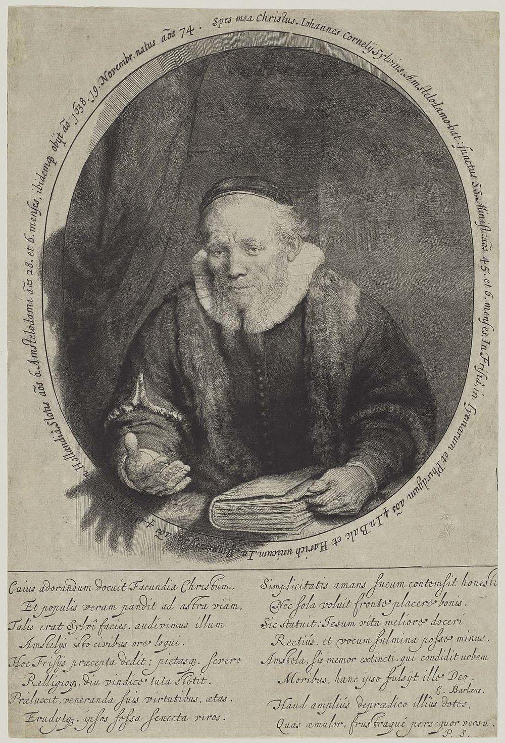 Jan Cornelis Sylvius, Preacher (1646) by Rembrandt van Rijn   PC: mfa.org