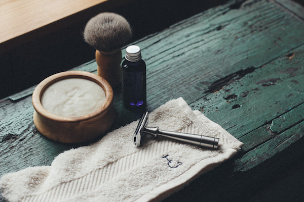 Organic shave oil and organic cotton flannel