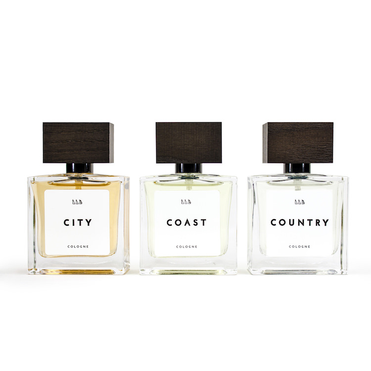 City, Coast and Country: blend them to find your perfect cologne.
