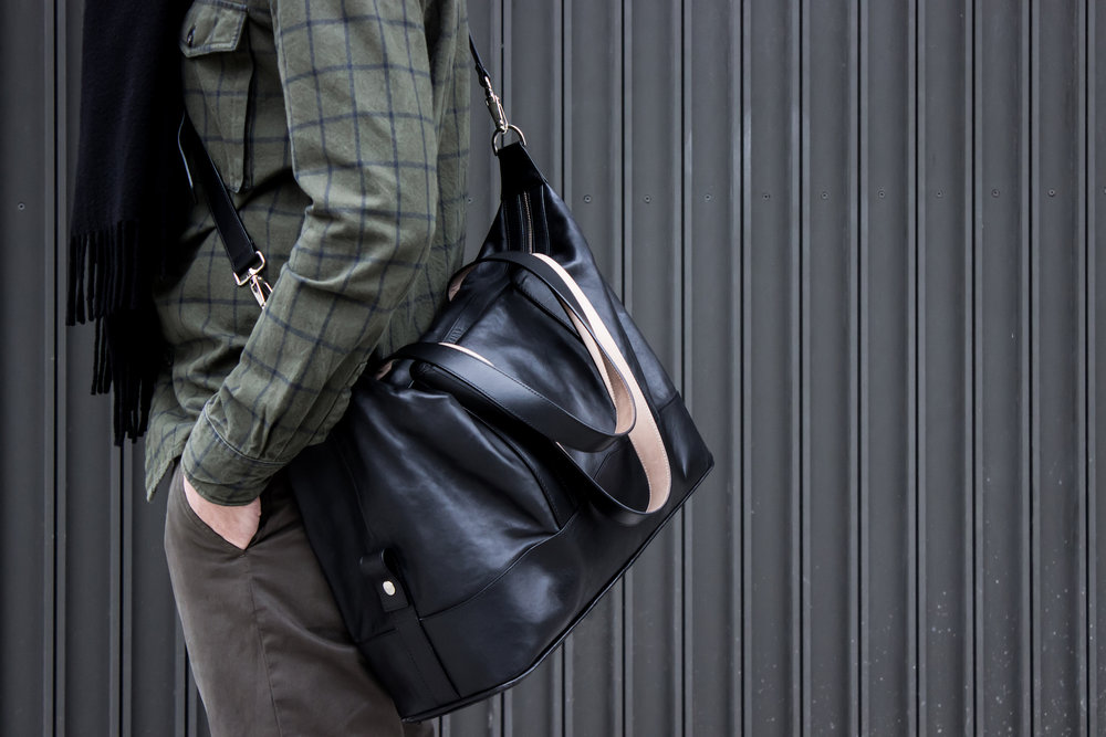 Thomas Clipper's All Leather Overnight Bag - as featured in Esquire