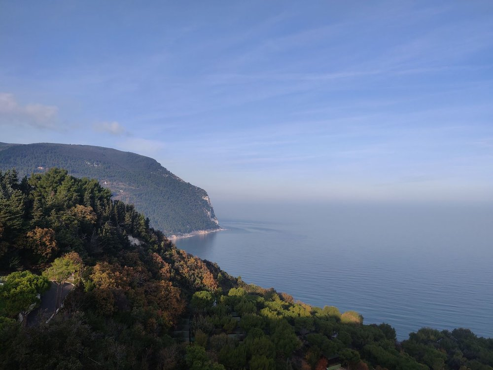 Sirolo on the Adriatic sea