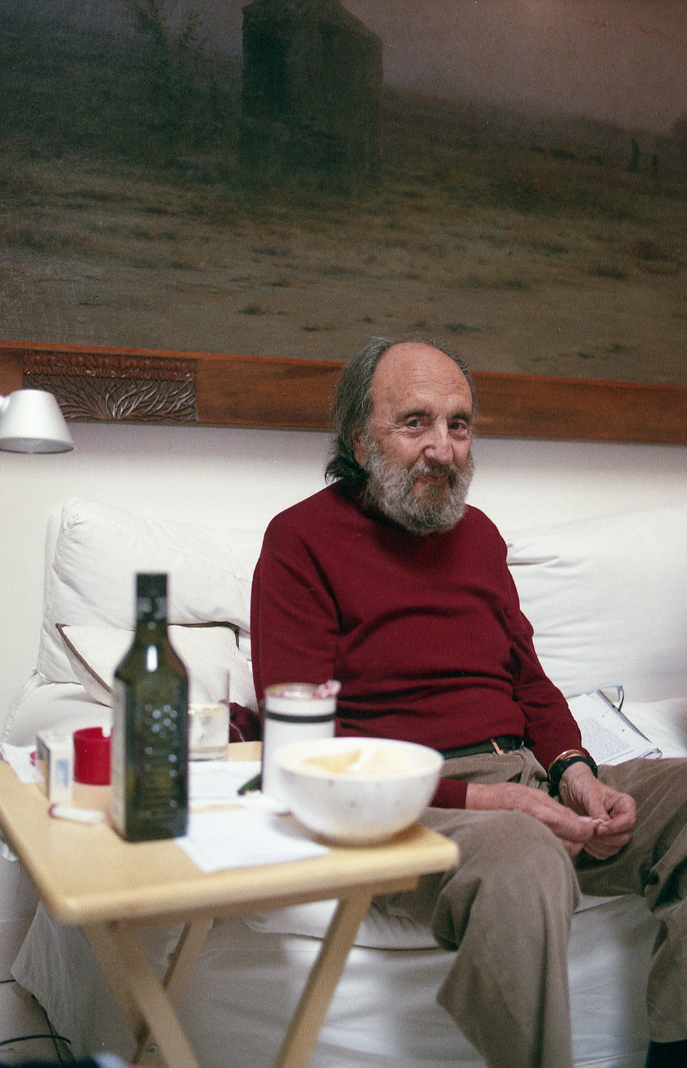 Photographer Leopoldo Pomés at his home in Barcelona. Spring 2017