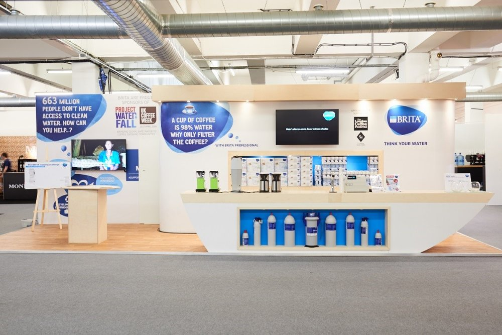 BRITA Professional stand at The London Coffee Festival 2017