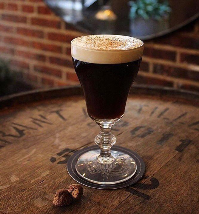 The Bloomsbury Club x Dead Rabbit NYC Irish Coffee, debuted during UK Coffee Week 2017. Photo by The Bloomsbury Club