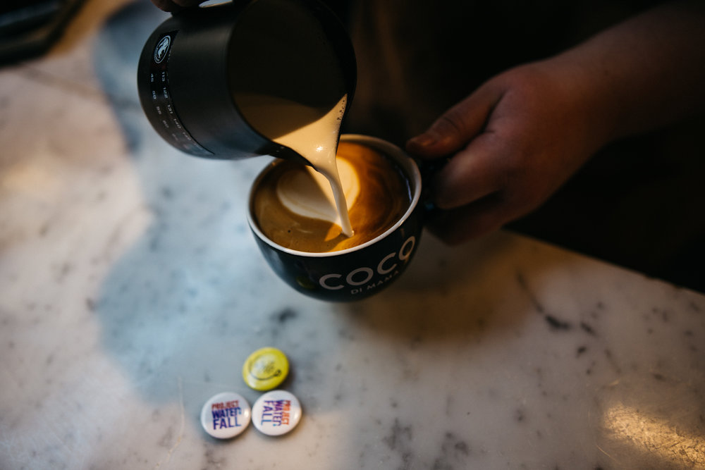 """From a social perspective, I love the fact that someone might be having a bad day and in the time it takes to make them a coffee, you can turn that around."" - Jason Tsontillis, Coco di Mama Coffee Guru."