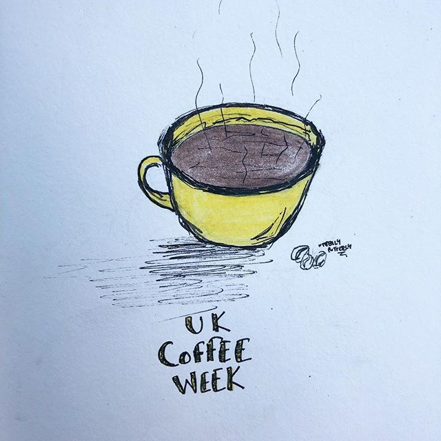 UK Coffee Week Illustration by Utterly Putterly Illustrations
