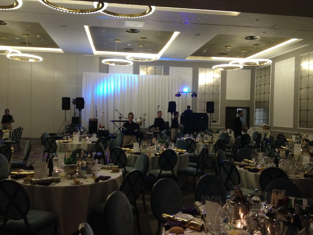 Stage set-up for a big function at the Hilton Bournemouth