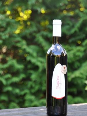 Coquelicot     Druer:   Chenanson 100%   Om vinen:   Farve:Dyb violet/purpur-rød  Bouquet: Blomsteragtige aroma af viol og hyldeblomst.  Smag:xx.   Velegnet til:   Grillet kød, herunder især lammekoteletter   Andet:   Alkohol: 12,5%  Servering: 12-13 grader  Drikkeklar nu og 2-4 år frem  Denne vin er økologisk og uden tilsatte sulfitter.   Priser og udmærkelser:   Médaille d'Argent au Concours International de Lyon 2014. (Sølvmedalje, Lyon)
