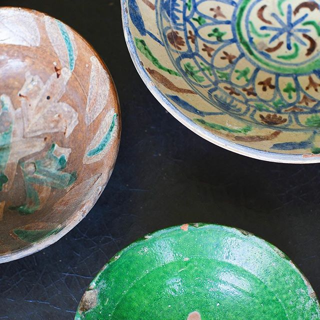 Pakistani ceramic bowls - beautiful colors and a great layering piece #cloverdesign #ceramics #findyourclover