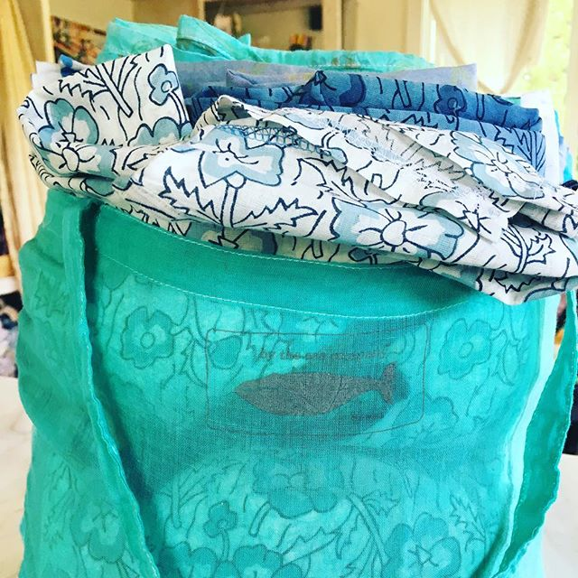 Bag full of goodies coming back from Kauai!#bytheseacompany #handmadewithlove #indiantextiles