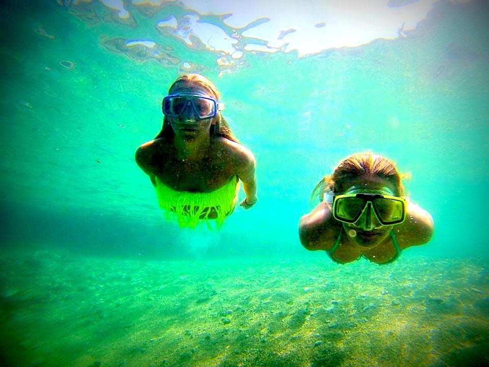 Floating. Weightless. Free of worries. Max pleasure. Fanny and Famme on shallow waters inKroatia.Photo: John-John Bruseth