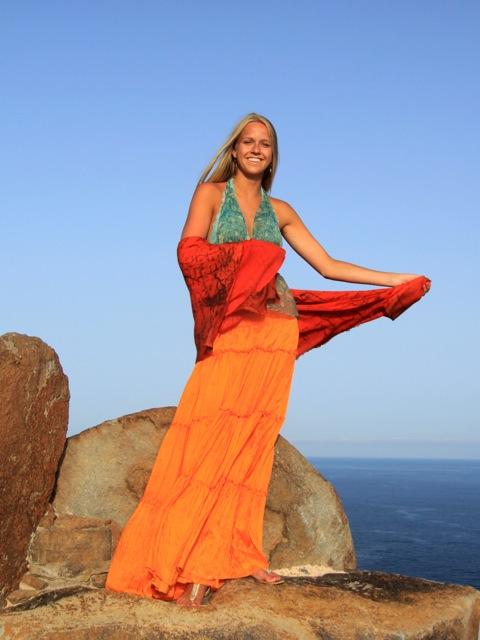Some days are truly sunshine days. Fanny is modeling at La Gomera. Photo: Bente Brat