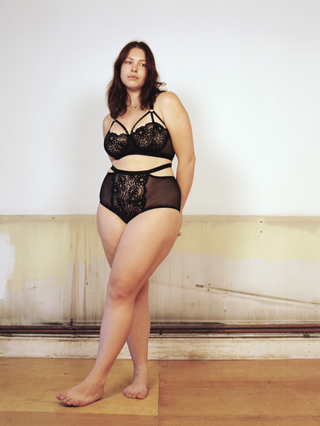 LONELY LINGERIE Georgia wears lulu in black
