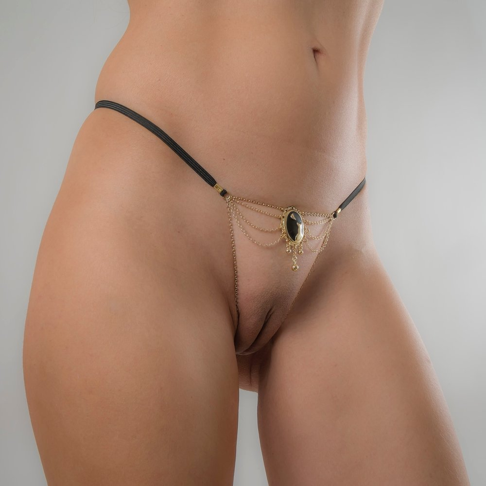 cameo moonlight g-string gold