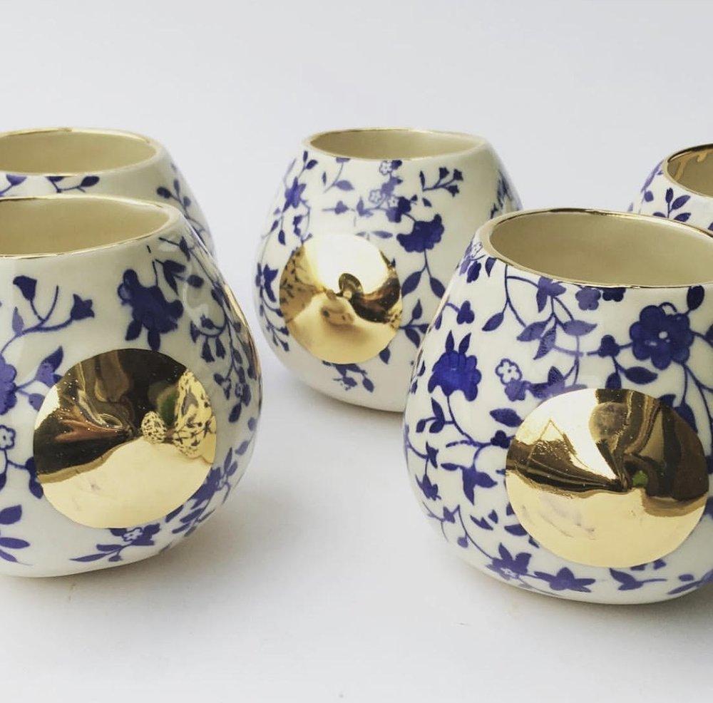 decal & gold nip cup