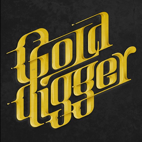 GOLD DIGGER Tribute to Kanye West theme. Lettering /Music.