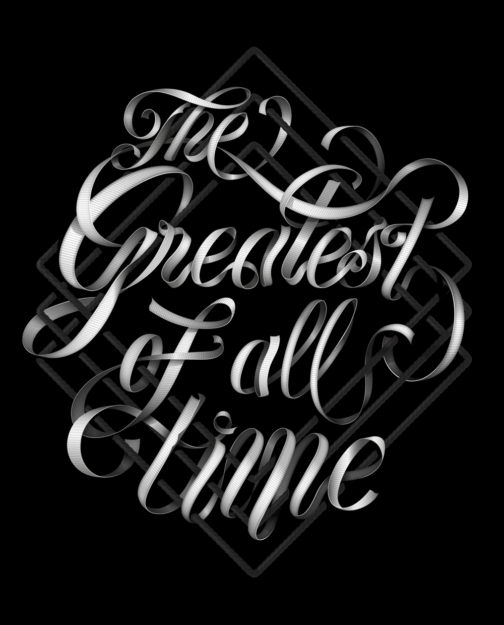THE GREATEST OF ALL TIME T-shirt graphic - Tribute to Muhammad Ali. Lettering / Illustration / Fashion.