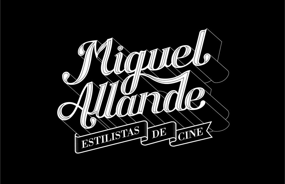 MIGUEL ALLANDE Logotype for Miguel Allande hairdressers Branding / Logotype / Lettering.
