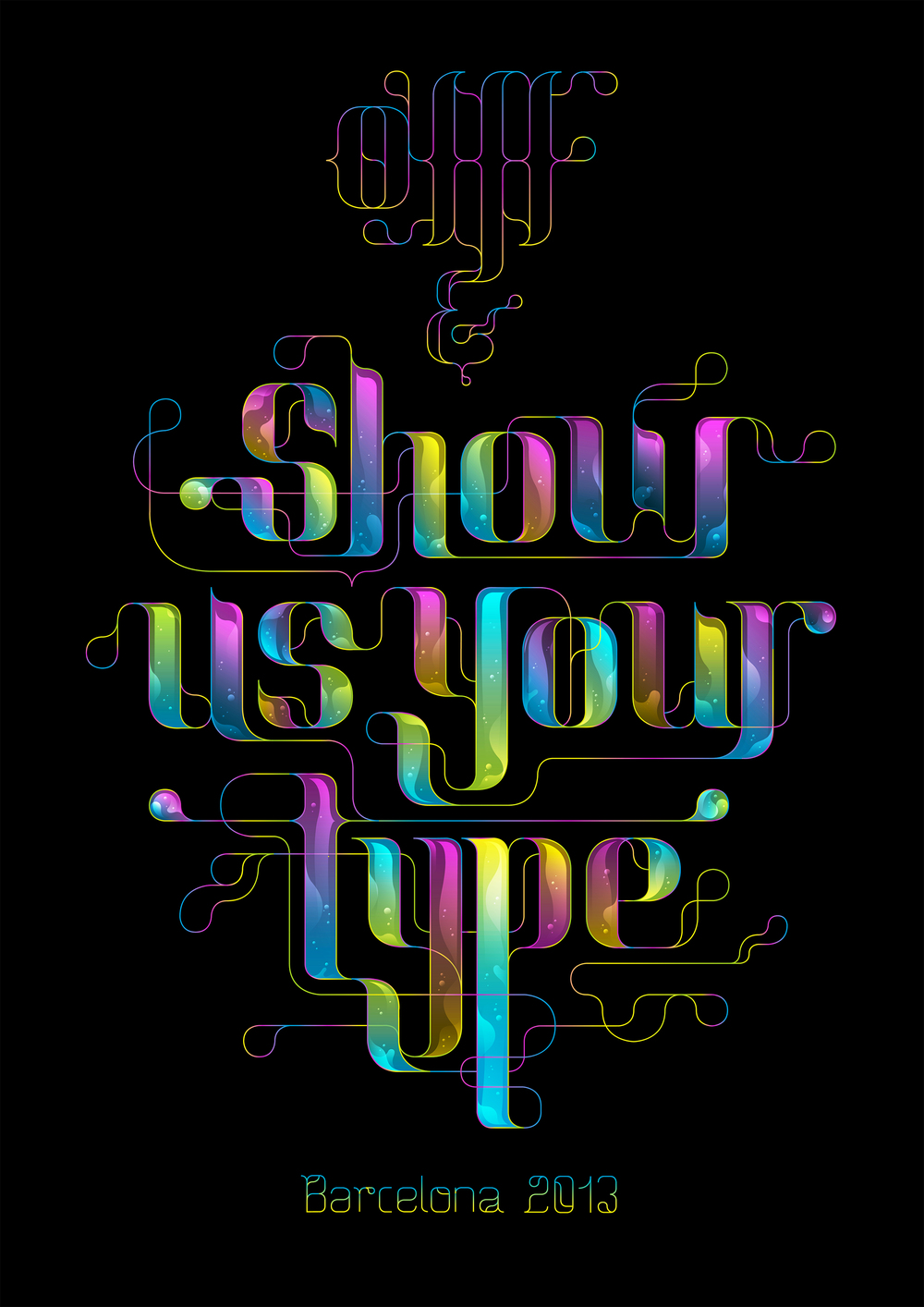 OFFF & SHOWUSYOURTYPE Artwork exposed Lettering / Illustration.