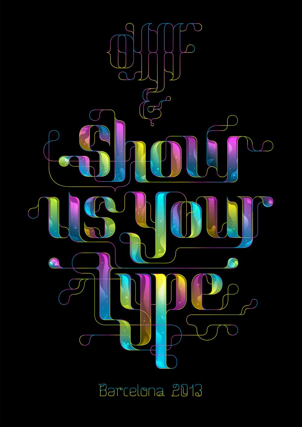 OFFF & SHOWUSYOURTYPE Artwork exposed Lettering / Illustration.